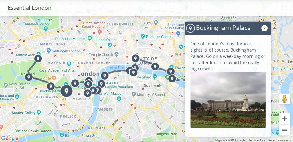 London Map Sightseeing.1 Day London Itinerary Walkli Travel
